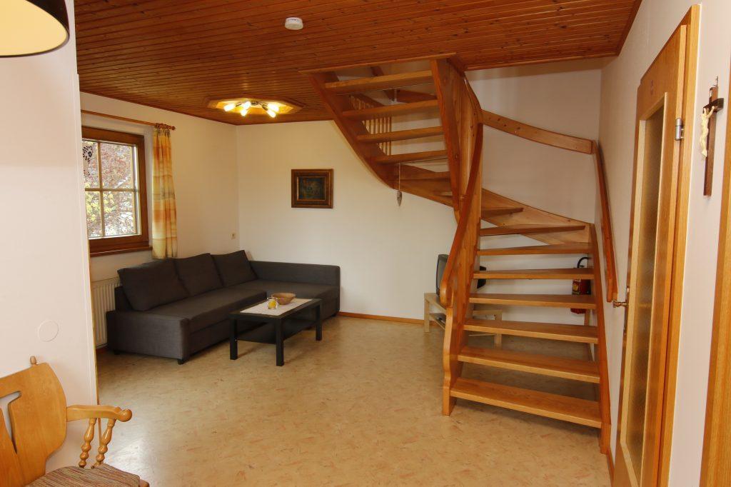 Pension Hecher Ferienwohnung Wohnzimmer
