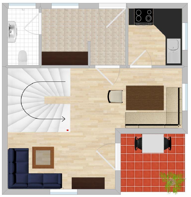 Plan der Ferienwohnung Seeblick Erdgeschoss