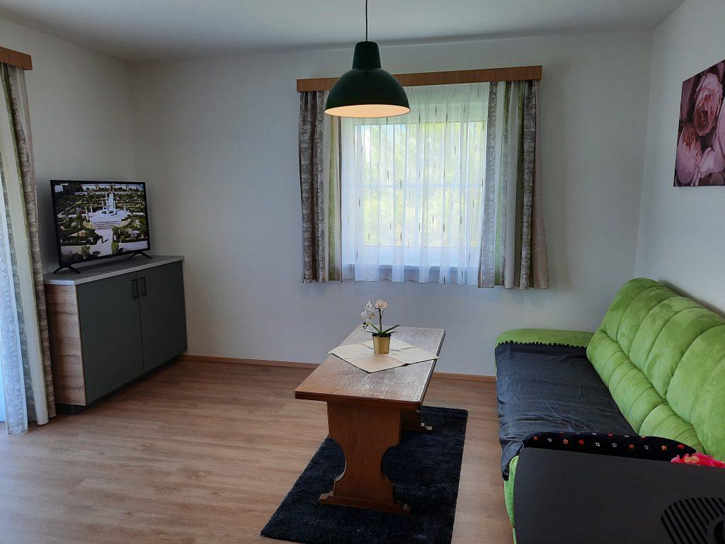 Pension Hecher Ferienwohnung Wiesenglück Wohnzimmer