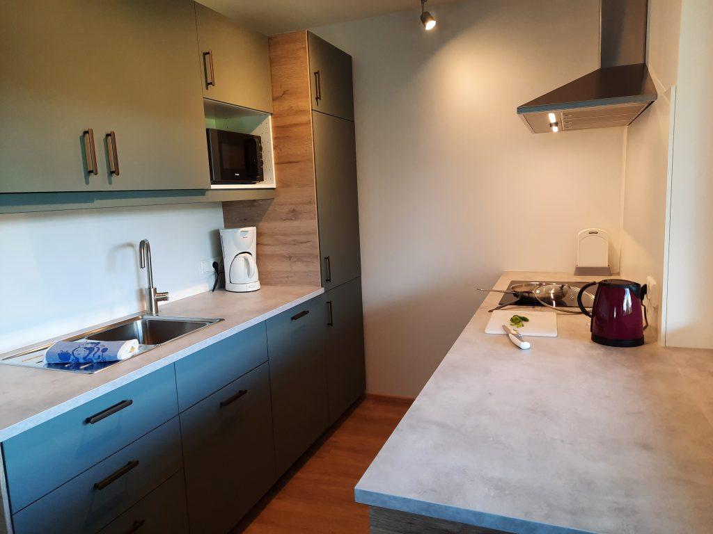 Pension Hecher Ferienwohnung Wiesenglück Küche