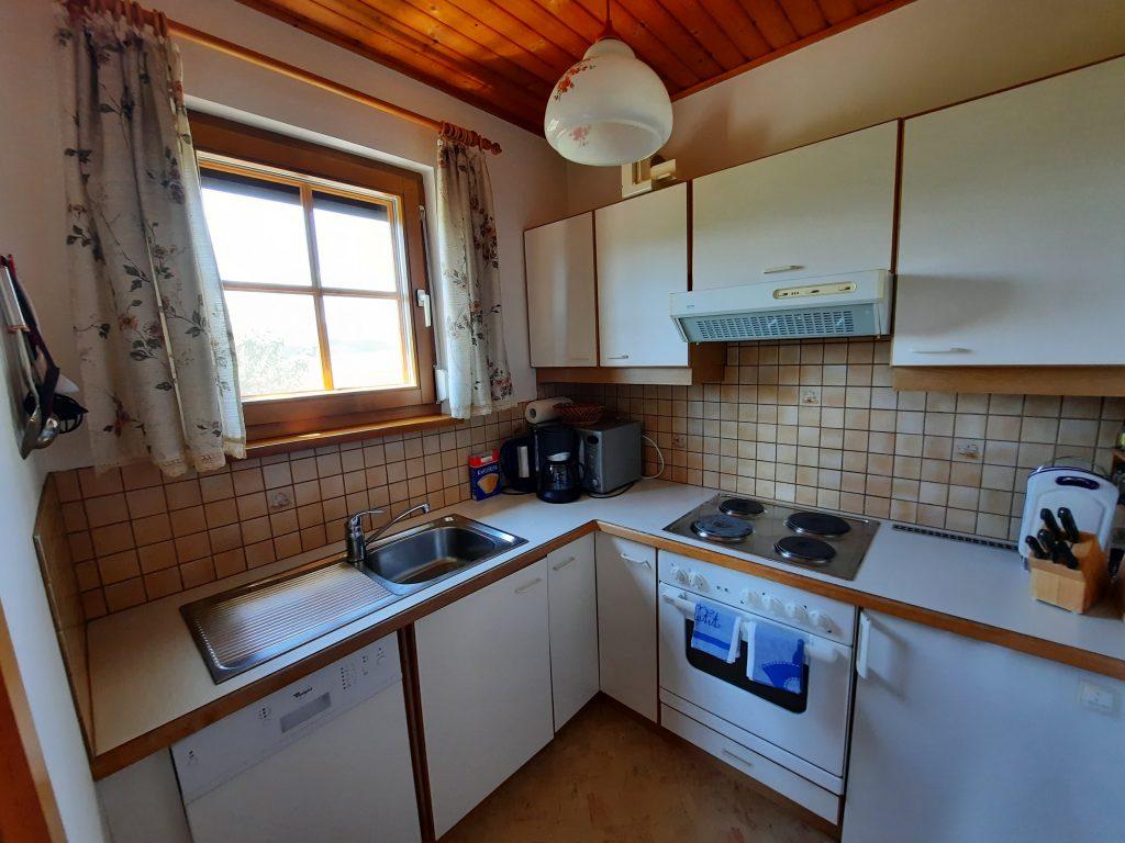 Pension Hecher Ferienwohnung Bergsicht Küche